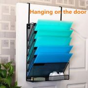 Delifox Cubical Hanging File Holder Wall Mount Vertical Document Organizer