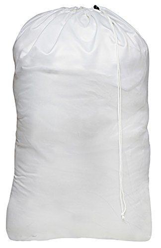 Nylon Laundry Bag - Locking Drawstring Closure and Machine Washable