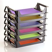 Officemate OIC Achieva Side Load Letter Tray, Recycled, Black