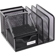 EasyPAG Mesh Office Supplies Desk Organizer Caddy with Drawer