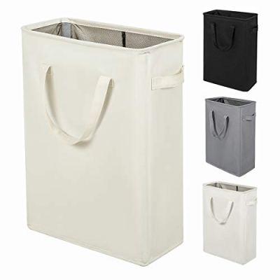 ZERO JET LAG Slim Laundry Hamper with Handles Thin Laundry Bin Collapsible