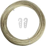 iGadgitz Home U6941 - Steel Core Washing Line Rope Plastic PVC Coated Clothes Rope Laundry Washing Rope Clothesline for Outdoor, Garden, Wall - Gold - Length 164ft