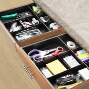 CAXXA 2 Pack 3 Slot Drawer Organizer with Two Adjustable Dividers
