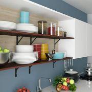 Homfa Floating Shelves Wall-Mounted Display Storage Ledge