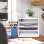 eMerit Wood Desktop Organizer Paper Storage Letter Tray File Sorter
