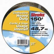 Strata 150' Gold Clothesline - Heavy Duty Steel Core, PVC Coating