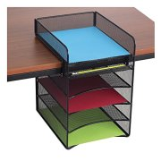 Safco Products Onyx Mesh 5-Tray Underdesk Hanging Organizer