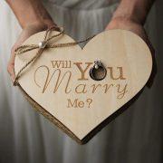 Handmade Wedding Ring Box Name Letter Jewellery Box