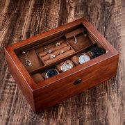 High-Grade Vintage Wood Jewelry Box