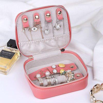 Colors Portable Travel Small Jewelry Box Storage