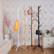 Premium Wooden Coat Rack Free Standing With 8 Hooks