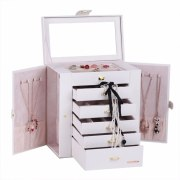 Jewelry Box Big Butterfly Cosmetic Chest Mirrored