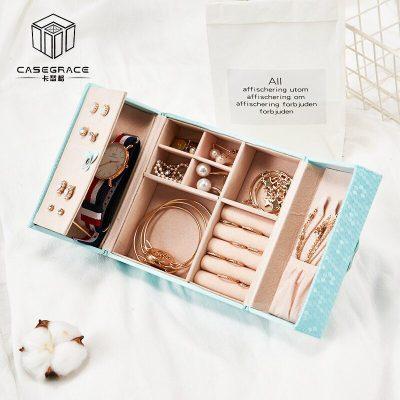 Jewelry Box Organizer Travel Portable Universal Leather Ring