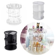 360 Rotating Acrylic Cosmetic Makeup Organizer DIY