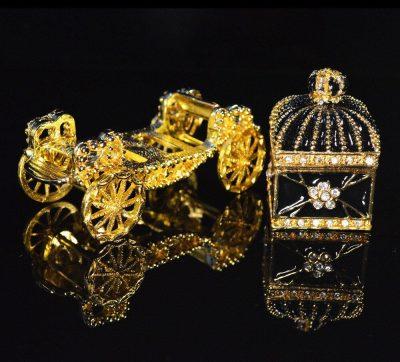 Europe art craft beautiful carriage jewelry box