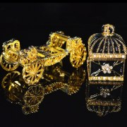 Europe art craft beautiful carriage jewelry box