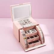 Large Jewelry Box With Mirror