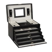 Large Jewelry Boxes Rings Necklace Storage Case Girls
