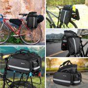 Bike Rack Aluminum Alloy Luggage Rear Carrier With Bag Saddle