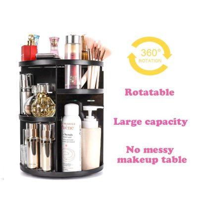 360 Rotating Makeup Organizer Cosmetic Storage Rack Brush Holder