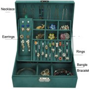 Jewelry display 4 color Flannel small rectangular jewelry box
