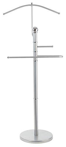 StorageMaid Metal Suit Valet Stand - Gorgeous Chromed Metal