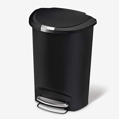 simplehuman 50 Liter / 13 Gallon Semi-Round Kitchen Step Trash Can