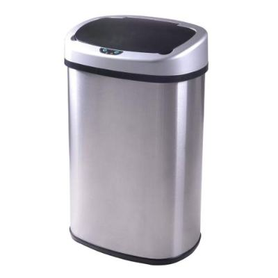 13 Gallon Touch-Free Automatic Stainless-Steel Trash
