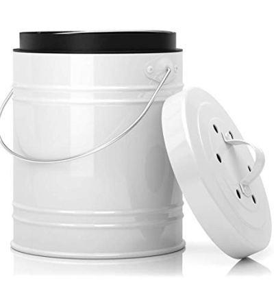 Compost Bin Dishwasher Safe Bucket Charcoal Filters