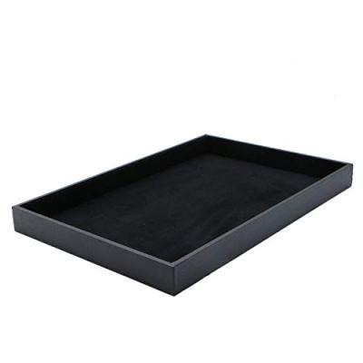 JETEHO Black Velvet Stackable Jewelry Tray