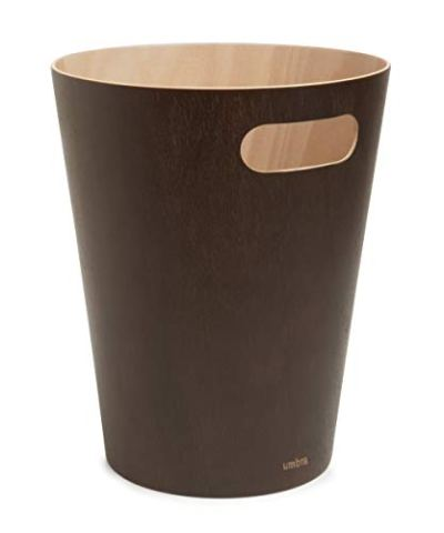 Umbra Woodrow 2 Gallon Modern Wooden Trash Can
