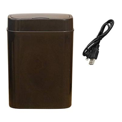 USB Rechargeable Slow Close Smart Trash Can