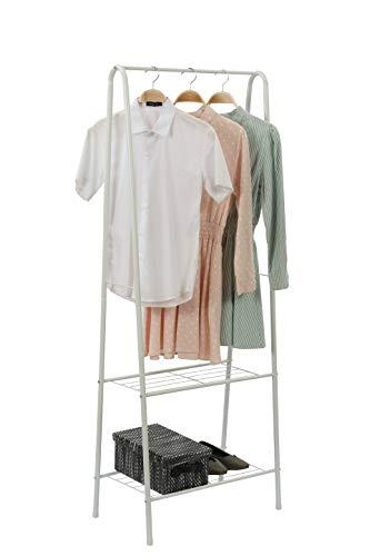 JEROAL Clothing Garment Rack, Coat Organizer Storage Shelving Unit