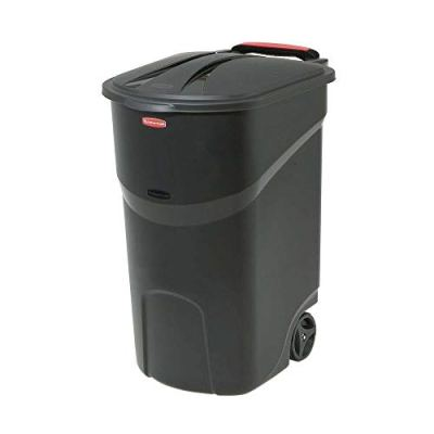Trash Can Lid Garbage Container Wheeled 45 Gallon