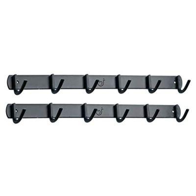 Hooks N Holders Matte Black 12 Wall Hooks Heavy Duty Wall Hanger