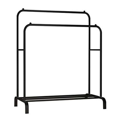 Double Rods Multi-functional Bedroom Clothing Rack