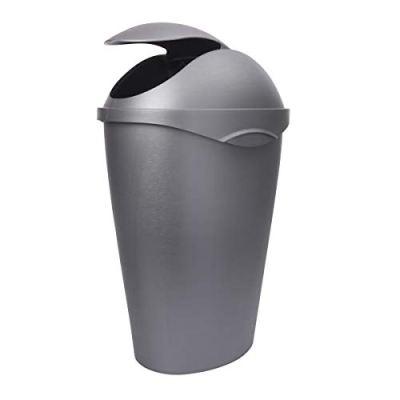 Umbra , Nickel Swinger 12-Gallon Swing-Top Waste Can