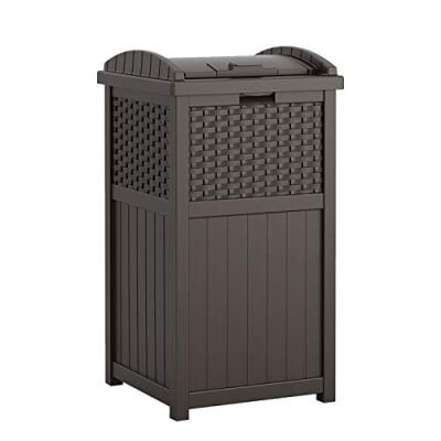 Can Resin Outdoor Trash with Lid Use in Backyard