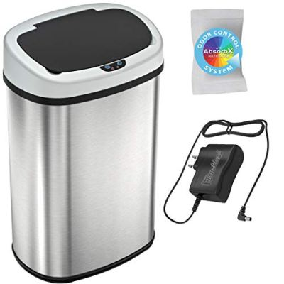 Automatic Sensor Kitchen Trash Can with Power Adapter