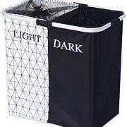 2 Section Laundry Basket Hamper Collapsible
