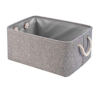 Collapsible Storage Basket Bins, Decorative Foldable Rectangular Linen