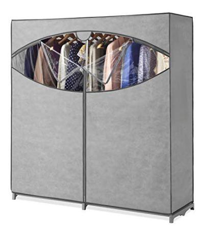 Wardrobe Clothes Storage Organizer Closet with Hanging Rack
