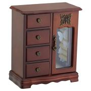 Wooden Jewelry Box Makeup and Organizer
