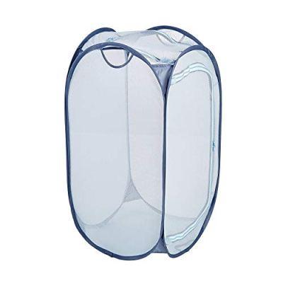 Smart Design Mesh Pop-Up Flip Laundry Hamper & Basket