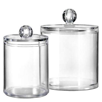 Bathroom Vanity Storage Organizer Canister Holder Apothecary Jars Set