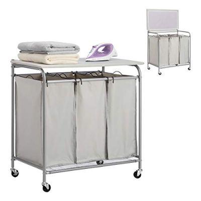 PARANTA Laundry Sorter Cart 3-Bag Heavy-Duty