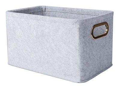 Foldable Felt Fabric Storage Basket Storage Bins