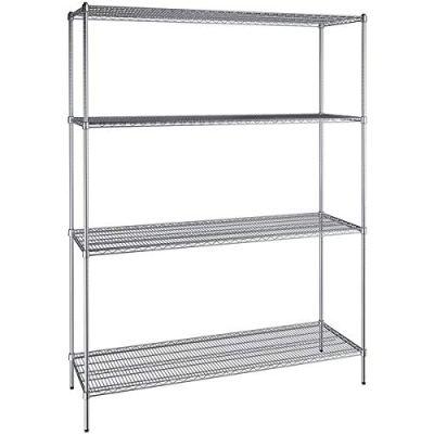 24 inch x 72 inch Chrome Wire 4 Shelf Kit