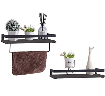 PENGKE Set of 2 Floating Wall Ledge Shelf,Floating Shelves Wall Mounted