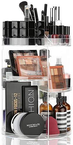 Rotating Makeup Organizer Cosmetic Holder 360 Degree